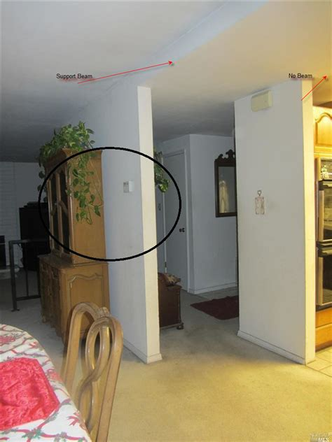 Kitchen With Island is this a load bearing wall between my house s entrance