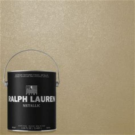 ralph 1 gal oyster silver metallic specialty finish interior paint me130 the home depot