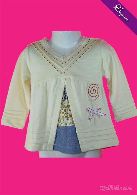 Baju Lengan Panjang Kanak Kanak Perempuan baju kuning muda lengan panjang kasih ibu koleksi