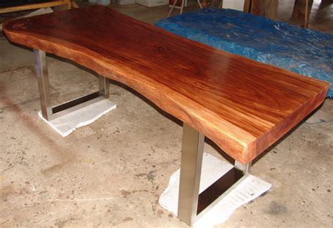 Wood Slab Dining Table Live Edge Dining Table Reclaimed Solid Slab Acacia Wood By Flowbkk