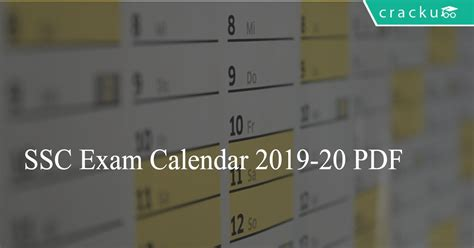 ssc exam calendar    cracku