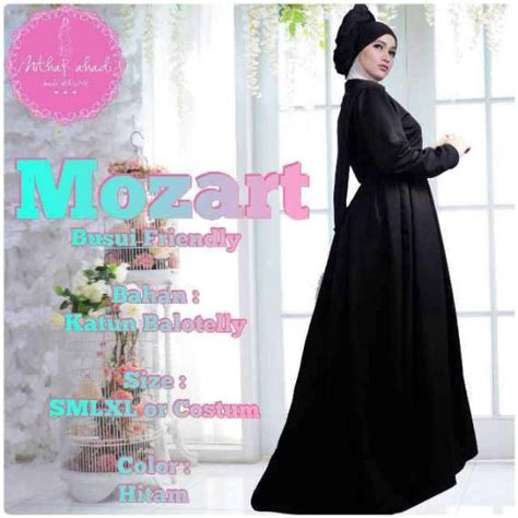 Flare Dress Pesta Dress Busui Dress Offshoulder Dress Hitam Putih mozart dress galeri ayesha jual baju pesta modern syar
