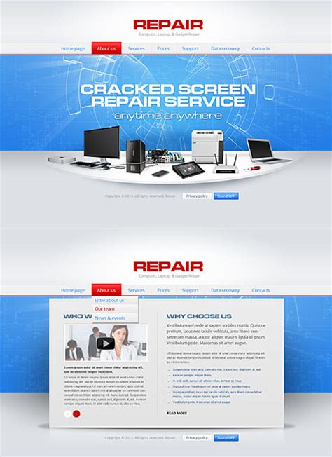 computer website templates free repair computer html5 template best website templates
