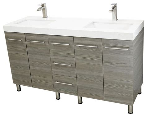 free standing modern bathroom cabinet windbay 60 quot free standing bathroom vanities