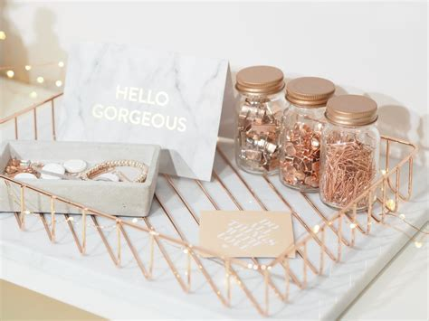 rose gold desk accessories dressing your desk i love these rose gold desk