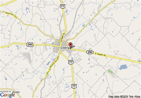 giddings texas map map of americas best value inn giddings giddings