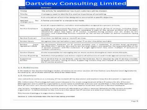 it service catalogue template itil service catalogue template