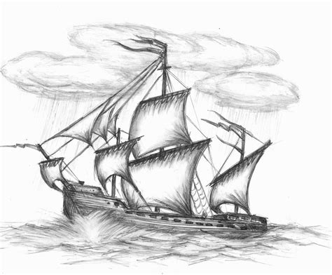 how to draw a boat hard sail ship by romanedge on deviantart