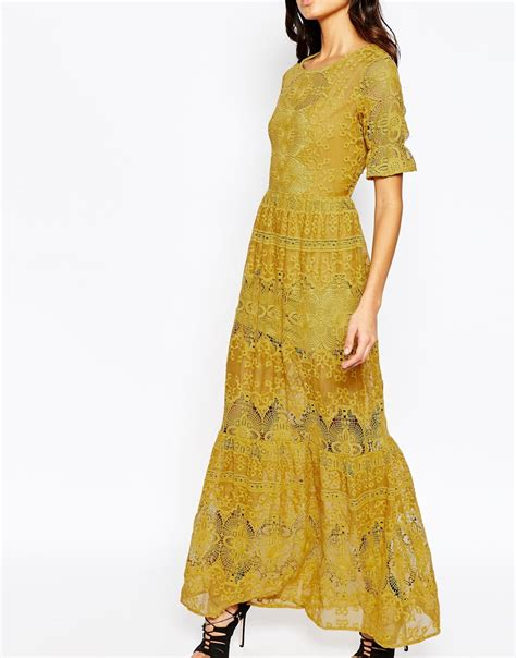 Seina Maxi for lemons maxi dress in yellow lyst