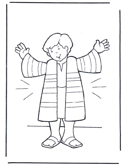 sunday school coloring pages for joseph joseph s coat coloring sheet joseph coat of many