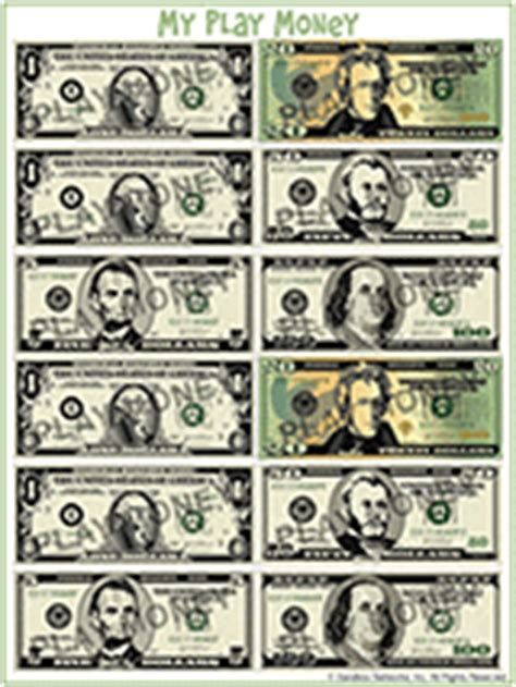 free printable us currency free printable play money familyeducation