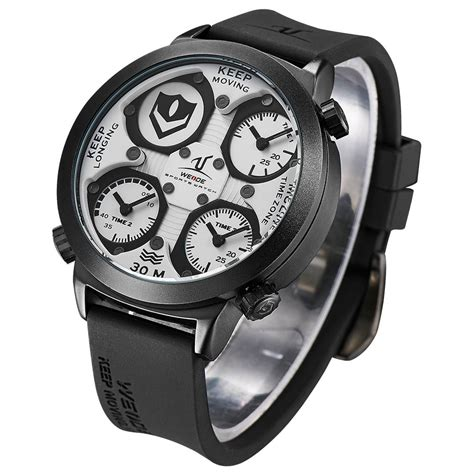 Jam Tangan Premium Weide Universe Series Time Zone 30m Water R 4 weide universe series time zone 30m water resistance uv1503 white jakartanotebook