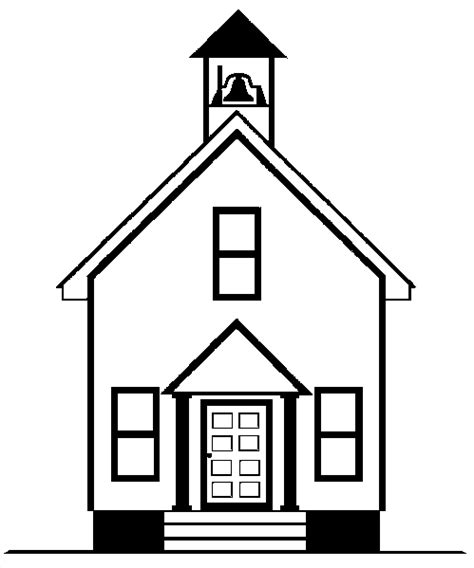 School House Coloring Page kidprintables coloring pages