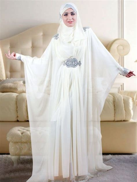 Muslimwear Adora Cardigan Putih White Muslim Wedding Kaftan Kaftan Islam Abaya Nikkah
