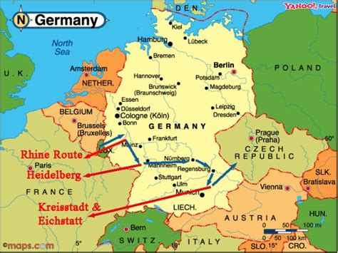 rhine germany map rhine map germany rhine valley germany map travel maps