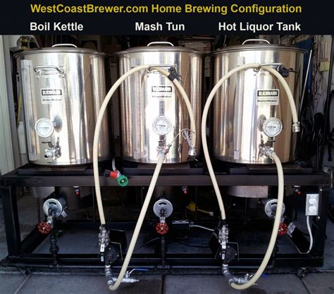 hot hot configuration home brewing single tier configuration featuring a hot