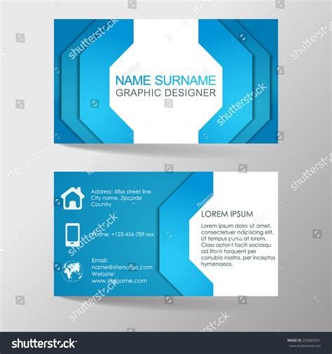 modern business card template or visiting card set design