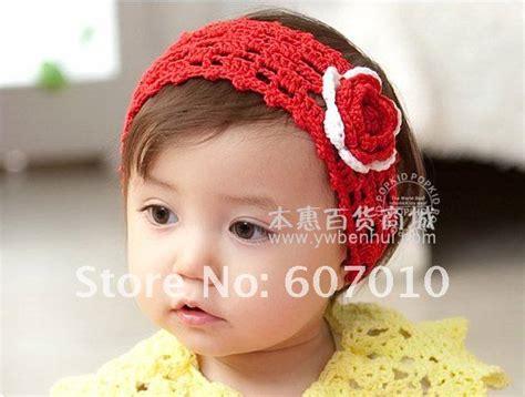 20pcs lot 20colors beautiful flower baby free shipping 20pcs lot cotton crochet headbands mix color