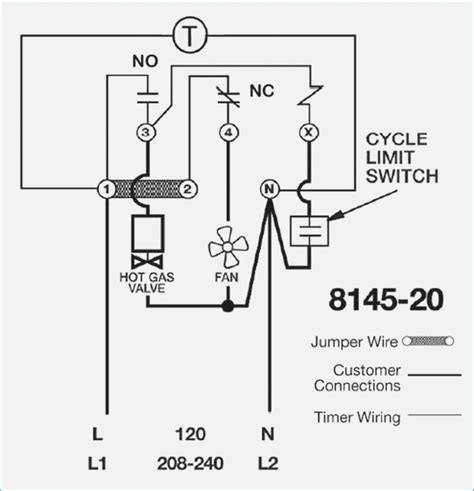 walk in freezer defrost timer wiring diagram free