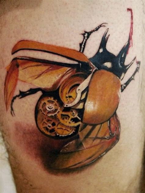 scarab beetle tattoo designs a steunk of a clockwork scarab beetle with brass