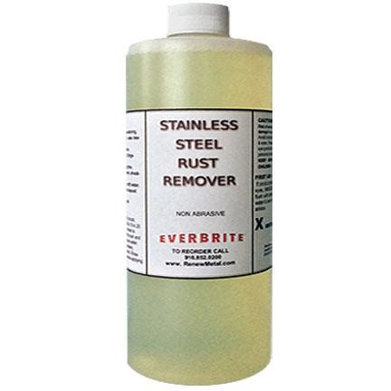 will stainless steel rust stainless steel rust remover quart ebc sscq 44 50