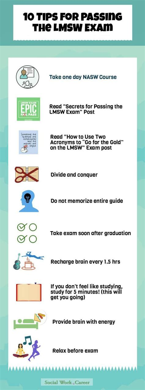 tips  pass  lmsw social work licensure exam
