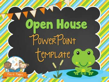 frog open house powerpoint pre k pages