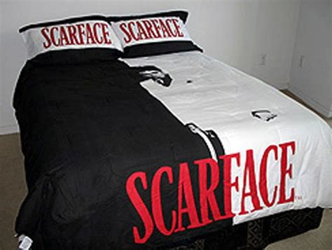 scarface bedroom cheap poster bed 3 piece black white red scarface tony