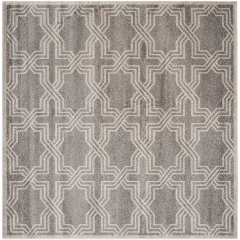 square indoor outdoor rugs safavieh amherst gray light gray 7 ft x 7 ft indoor
