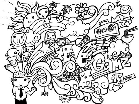 Doodle Coloring Pages For Coloring Home