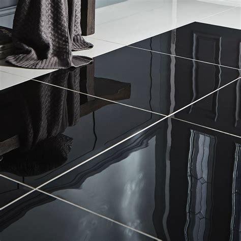 livourne black polished porcelain floor tile pack