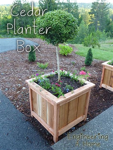 tree planter box plans woodworking projects plans
