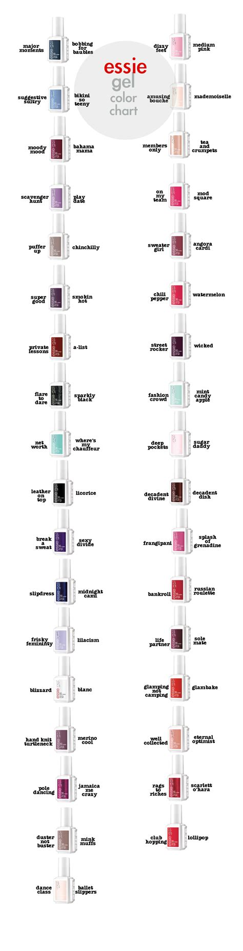 match gel colors essie gel colors and their match with the original