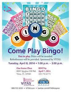 come play bingo one senior place