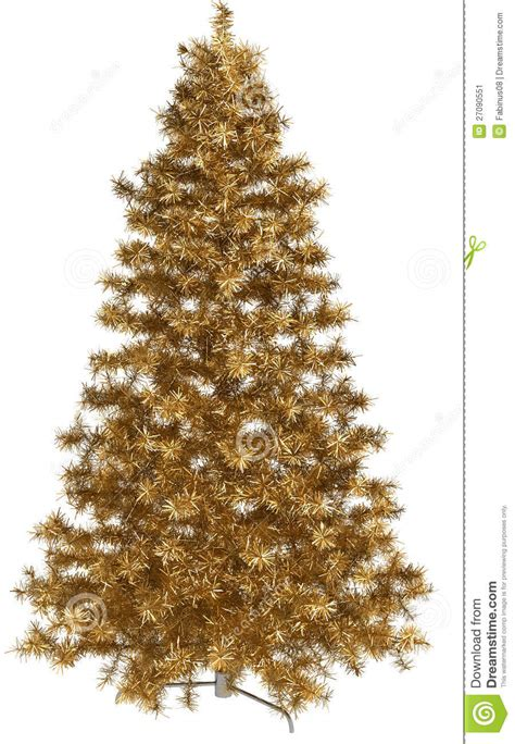 golden christmas tree stock image image 27090551
