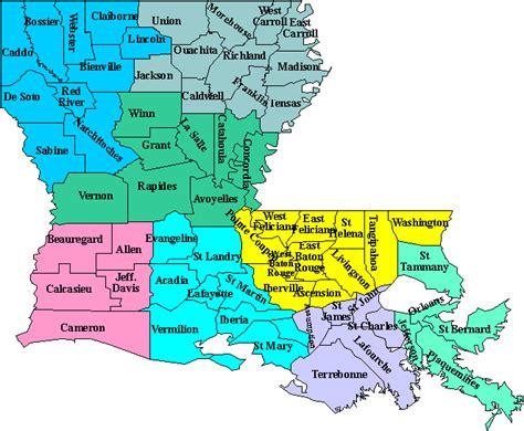 louisiana map cities and parishes louisiana101 parish information