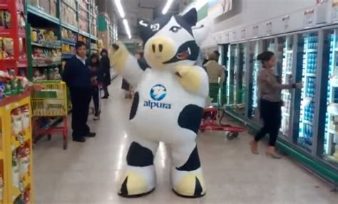 The Cowhide Store - the cow that everyone in the grocery store ignores