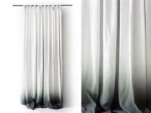 Grommet Curtain Panel Ombre Leinen Vorh 228 Nge Grau Zu Wei 223 Verblassen Von