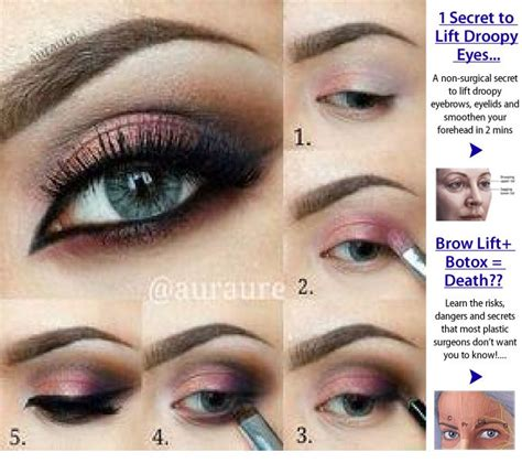 eyeshadow tutorial for small eyelids eye makeup tips for droopy eyes saubhaya makeup