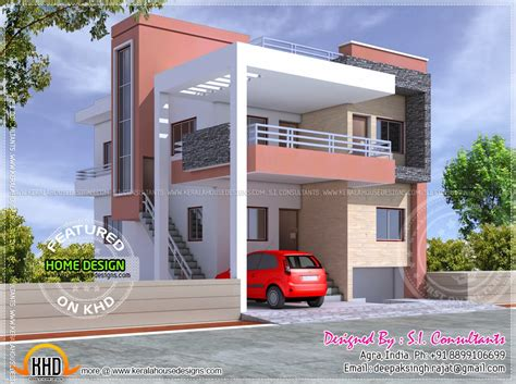home designs india free floor plan and elevation of modern indian house design
