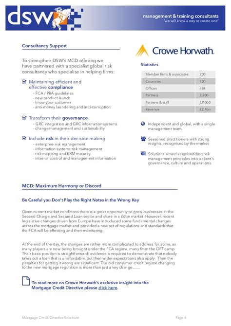 Dsw Application Process Dsw Mortgage Credit Directive Brochure