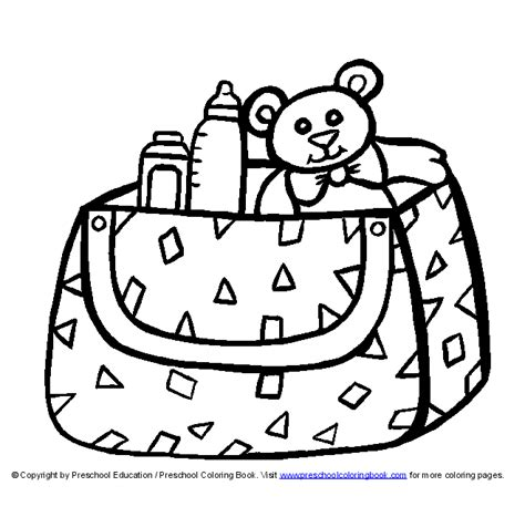 free diaper girl coloring pages