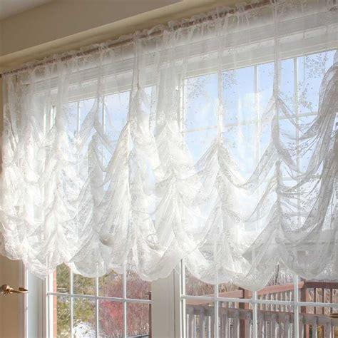 how to make festoon curtains austrian festoon brail roman shabby victorian balloon lace