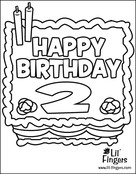second birthday coloring pages lil fingers coloring coloring help
