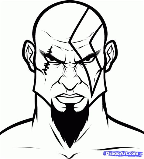coloring pages video game characters how to draw kratos easy step by step video game