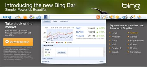 bing bar redesigned bing bar toolbar more like a quot dashboard