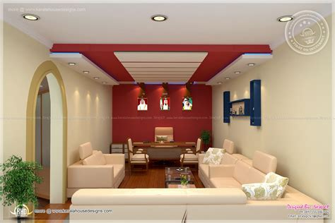 Home Internal Decoration | home office interior design by siraj v p home kerala plans