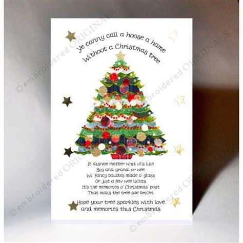 christmas tree card poem children tree poem scottish card new year cards niche