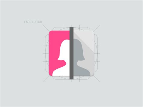 material design icon edit face editor material design icon by amit keren loopim