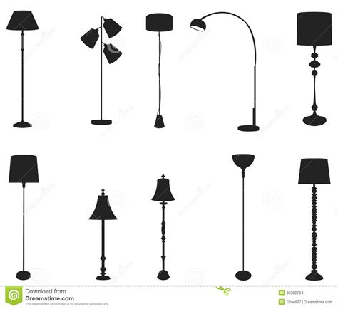 how to make light silhouette outdoor lights sets of silhouette floor ls create by vector stock images image 36382794